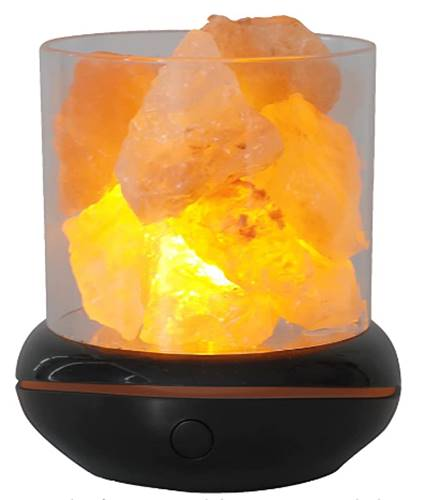 Lámpara de noche LED piedra de sal