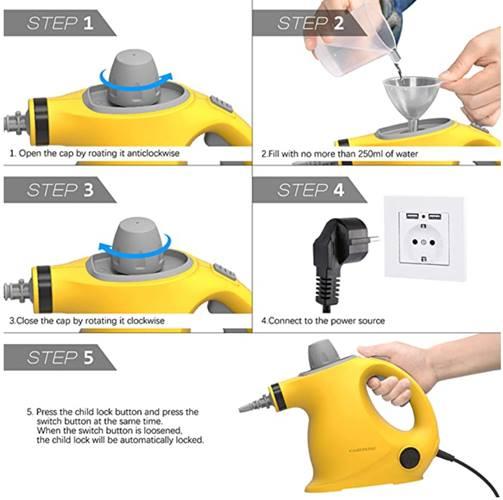 Limpiador de vapor de mano